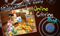 Mickey Donald and Goofy Online Coloring